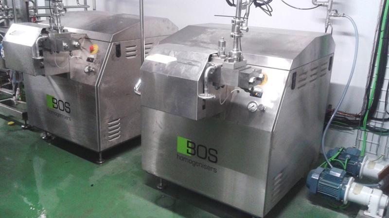 Nuevos homogenizadores de alta presión de Bos Homogenisers B